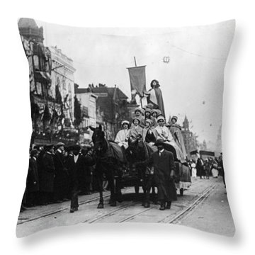 Suffrage Parade, 1913 Throw Pillow by Granger