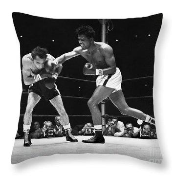 Sugar Ray Robinson Throw Pillow by Granger