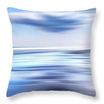 Summer Beach Blues Throw Pillow by Bill Wakeley