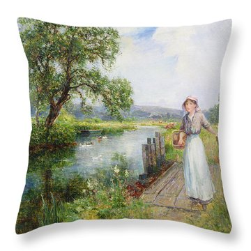 Summer Throw Pillow by Ernest Walbourn