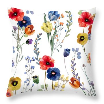 Summer Linen Throw Pillow by Mindy Sommers