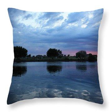 Summer Sunset On Yakima River 5 Throw Pillow by Carol Groenen