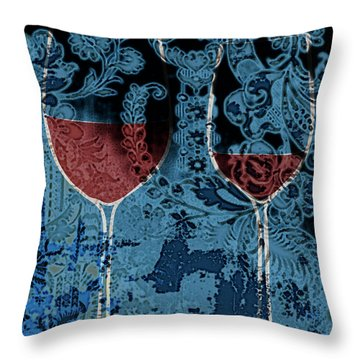 Throw Pillow featuring the painting Summer Wine by Frank Tschakert