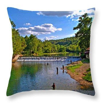 Summertime At Bennett Springs Throw Pillow by Julie Grace