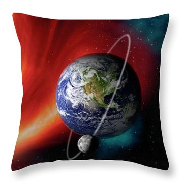 Sun And Planets Throw Pillow by Panoramic Images