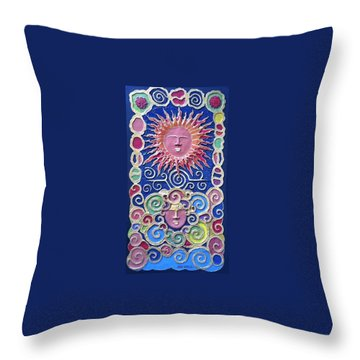 Sun And Wind 2 Throw Pillow by Otil Rotcod