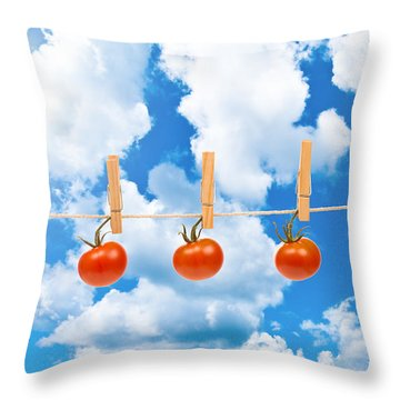 Sun Dried Tomatoes Throw Pillow by Amanda Elwell