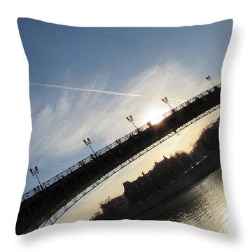 Sun Layers Throw Pillow by Anna Yurasovsky