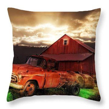 Sunburst At The Farm Throw Pillow by Bill Cannon