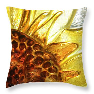 Sunburst Sunflower Throw Pillow by Jerry McElroy