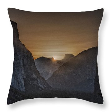 Sunburst Yosemite Throw Pillow by Bill Roberts