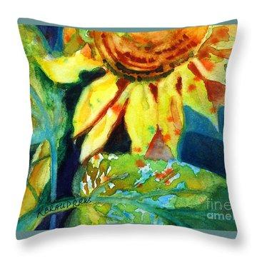 Sunflower Head 4 Throw Pillow by Kathy Braud