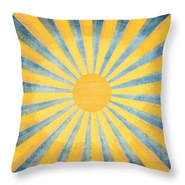 Sunny Day Throw Pillow by Setsiri Silapasuwanchai