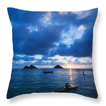 Sunrise At Lanikai Throw Pillow by Dana Edmunds - Printscapes