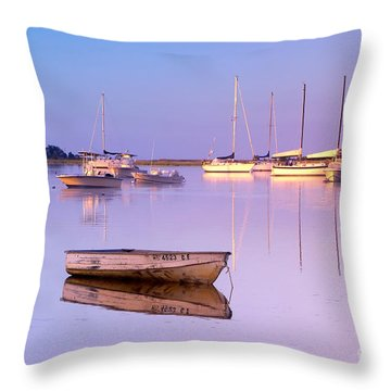 Sunrise At West Bay Osterville Cape Cod Throw Pillow by Matt Suess