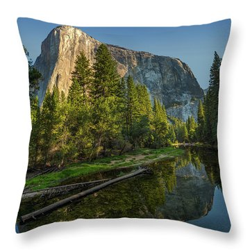 Sunrise On El Capitan Throw Pillow by Peter Tellone