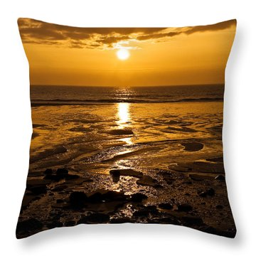 Sunrise Over The Sea Throw Pillow by Svetlana Sewell