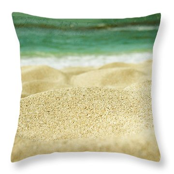 Sunset Beach Throw Pillow by Sharon Mau