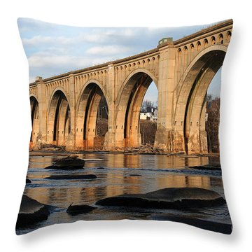 Sunset Crossing Throw Pillow by Kelvin Booker
