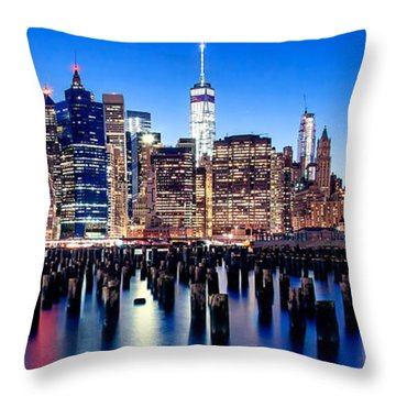 Magic Manhattan Throw Pillow by Az Jackson