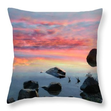 Sunset Reflection Throw Pillow by Marcia Lee Jones
