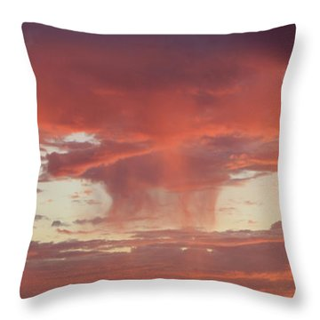 Sunset Sky Throw Pillow by Nina Prommer