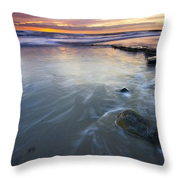 Sunset Storm Throw Pillow by Mike  Dawson