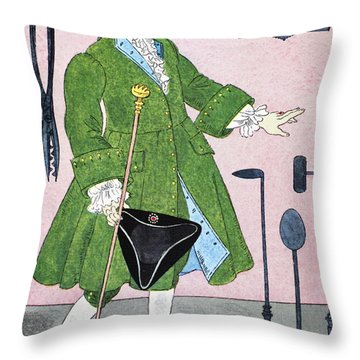 Surgeon, 18th Century Throw Pillow by Granger