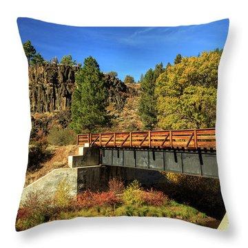 Susan River Bridge On The Bizz Throw Pillow by James Eddy