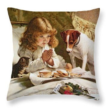 Suspense Throw Pillow by Charles Burton