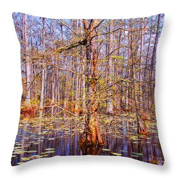Swamp Tree Throw Pillow by Susanne Van Hulst