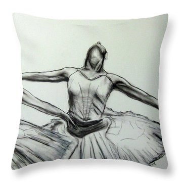 Swans Throw Pillow by James Gallagher