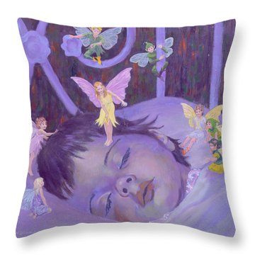 Sweet Dreams Throw Pillow by William Ireland