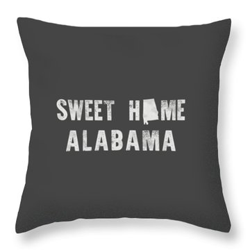 Sweet Home Alabama Throw Pillow by Nancy Ingersoll