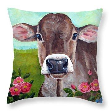 Sweet Matilda Throw Pillow by Laura Carey
