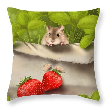 Sweet Surprise Throw Pillow by Veronica Minozzi