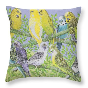 Sweet Talking Throw Pillow by Pat Scott