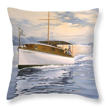 Swell Throw Pillow by Richard De Wolfe