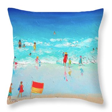 Swim Day Throw Pillow by Jan Matson