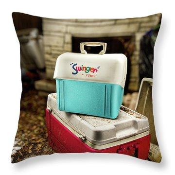 Swinger Cooler Throw Pillow by Yo Pedro