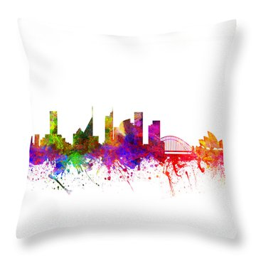 Sydney Australia Cityscape 02 Throw Pillow by Aged Pixel