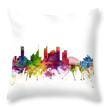 Sydney Australia Cityscape 06 Throw Pillow by Aged Pixel