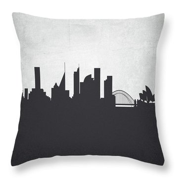 Sydney Australia Cityscape 19 Throw Pillow by Aged Pixel