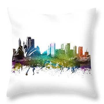 Sydney Cityscape 01 Throw Pillow by Aged Pixel