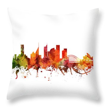 Sydney Cityscape 04 Throw Pillow by Aged Pixel