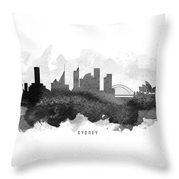 Sydney Cityscape 11 Throw Pillow by Aged Pixel