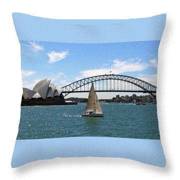 Sydney Harbour No. 1 Throw Pillow by Sandy Taylor
