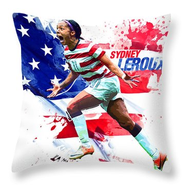 Sydney Leroux Throw Pillow by Semih Yurdabak