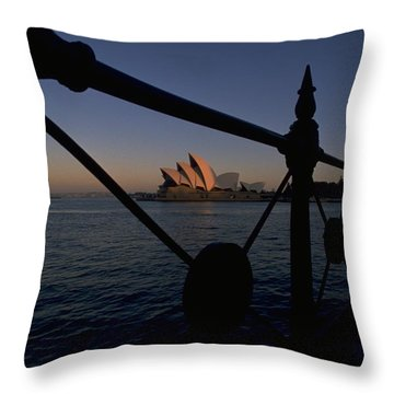Throw Pillow featuring the photograph Sydney Opera House by Travel Pics