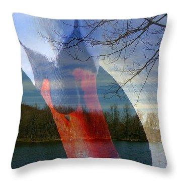 Symbiosis Throw Pillow by Priscilla Richardson